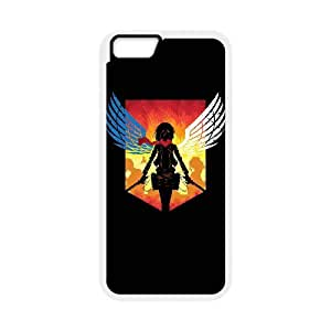 "WJHSSB Diy case Attack on Titan customized Hard Plastic Case For iPhone 6 (4.7"") [Pattern-6]"