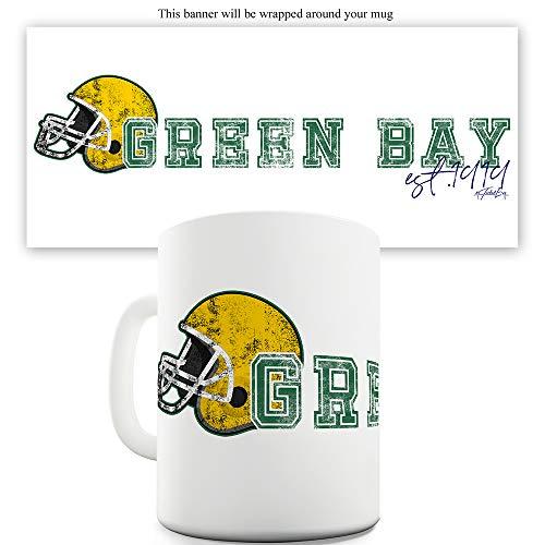 Green Bay American Football Established 15 OZ Funny Mugs For Women (Green Buy Bay Packer Stock)