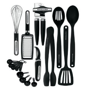 New KitchenAid Classic 17-piece Tools and Gadget Set (Black)