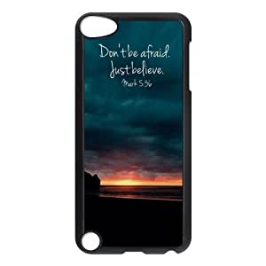 Fashion Protection Bible Verse Life Quotes Design Hard Cover Case For iPod Touch 5th Generation hjbrhga1544