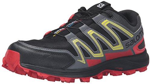 Salomon Men's Speedtrak-M Trail Runner, Black/Radiant Red/Corona Yellow, 11 D US