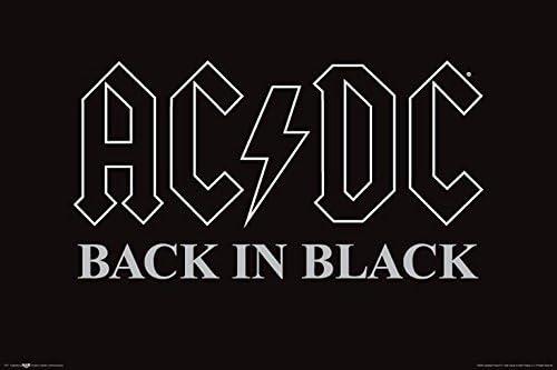 Buyartforless AC/DC Back in Black 36x24 Music Art Print Poster ACDC
