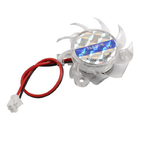 YOC-3 x 35mm 12V Clear Plastic Computer VGA Video Cooler Card Cooling Fan Fasmodel