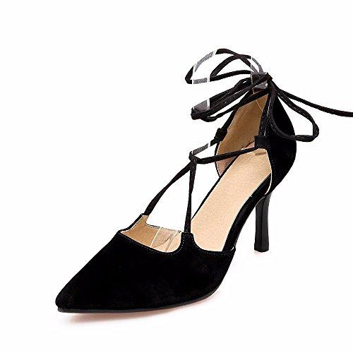 de 88 tiras de Dreamgirl Corea Código 40 sandalias correa 11 tazón 43 señoras pie sandalias de black tacón de grande p7axAFda