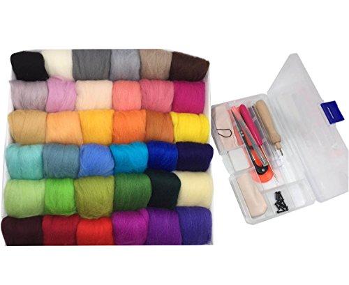 Misscrafts Needle Felting Kit Wool Roving Felting Craft