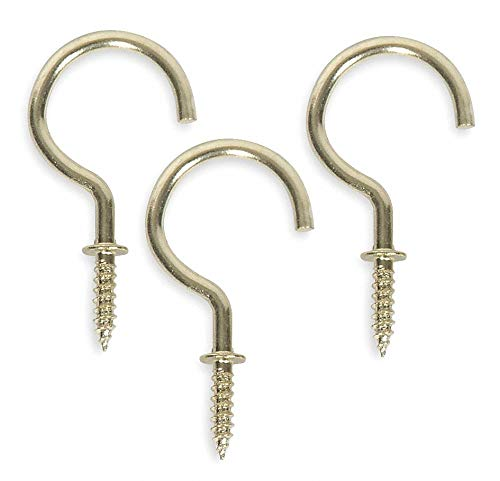 Screw in Utility Hook, 1 Hook(s), Steel, 20 PK- Pack of 5