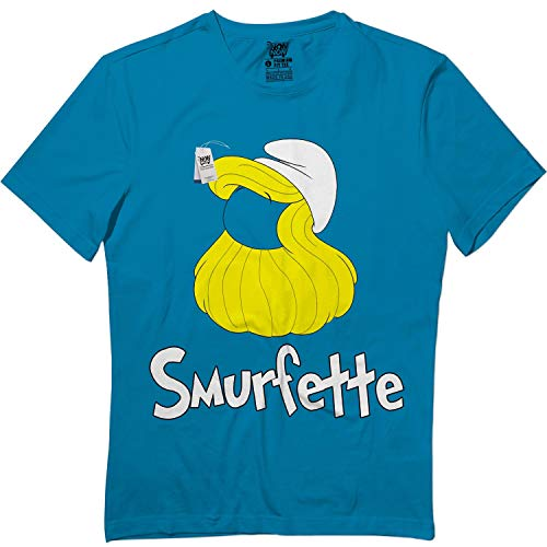 wintertee Smurfette-Halloween Blue Outfit Costume Kids Adults Matching T -