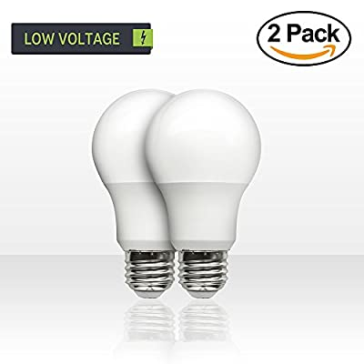 SCS Lighting Low Voltage 12v DC 60 Watt Equivalent LED LIght Bulbs. 7watt LED / 500 Lumen. E26 E27 Base. Warm White Color. Perfect for RV Camper, Off Grid Solar, Boat Light, 2Pack