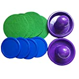 Captank Home Air Hokey Pucks and Paddles with Bonus Air Hockey Mallet Felt Pads for Game Tables, Equipment, Accessories (8 Packs)