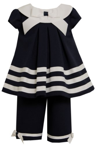 Bonnie Baby Girls' Nautical Capri Set
