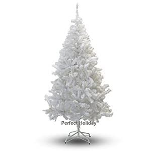 Perfect Holiday Christmas Tree, 4-Feet, PVC Crystal White 39