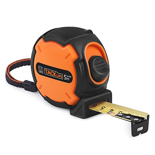 [Tacklife TM-B02 Classic Tape Measure 16Ft Self-Marking Ruler Metric Imperial Scale Retractable Measuring Tape with Wrist Strap for Construction, Home, Carpentry Measurement] (Strap Measures)