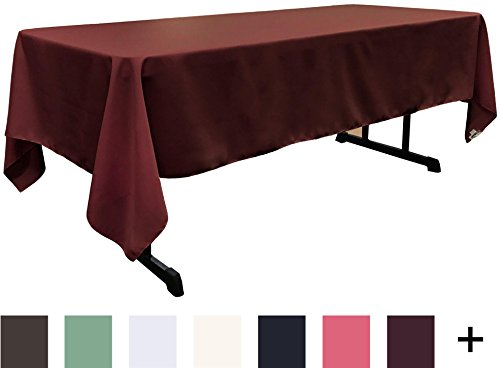 LA Linen Polyester Poplin Rectangular Tablecloth