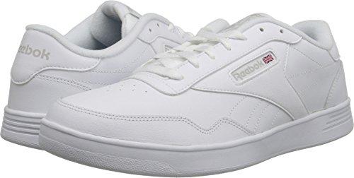 Reebok Men's Club MEMT Walking Shoe, White/Steel, 13 4E US