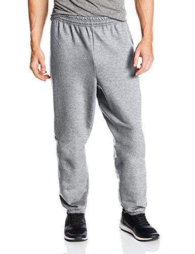 Hanes Men's EcoSmart Fleece Sweatpant, Light Steel, Medium (Pack of 2)
