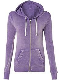 Women's Crystal Sporty Soft Hoody Zip Sweater