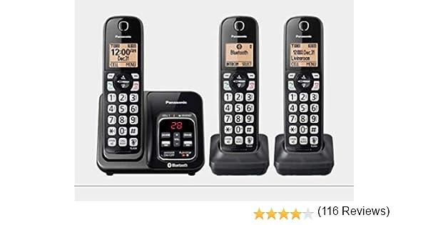 Panasonic KX-TG273SK Link2Cell teléfono inalámbrico Bluetooth con Ayuda de Voz y contestador automático – 3 Auriculares (reacondicionado Certificado): Amazon.es: Electrónica
