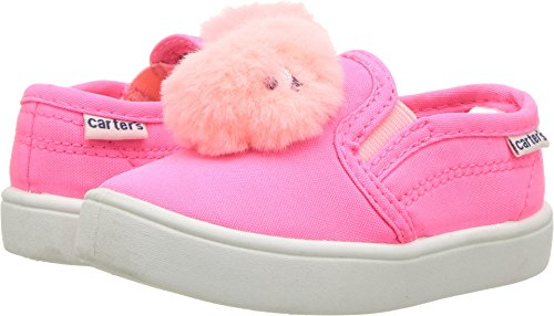 carter's Girls' Tween Casual Slip-on Sneaker, Pink, 10 M US Toddler