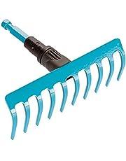 GARDENA combisystem kleine hark: Tuinhark voor grondwerkzaamheden als schoonmaken, opruwen en egaliseren, werkbreedte 18,5 cm, 10 tanden, voor combisystem stelen, aanbevolen lengte 130 cm (3185-20)