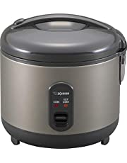 Zojirushi NS-RPC10HM Rice Cooker and Warmer, 5.5-Cup (Uncooked), Metallic Gray