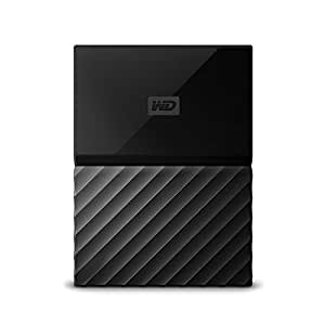 WD My Passport - Disco duro portátil de 2 TB y software de copia de seguridad automática, color negro