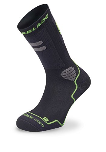 Rollerblade Performance Men's Socks, Inline Skating, Multi Sport, Black Silver