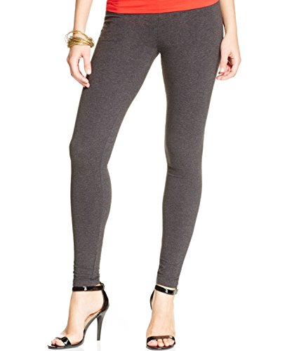 HUE Women's Cotton Leggings, Graphite Heather, Extra -