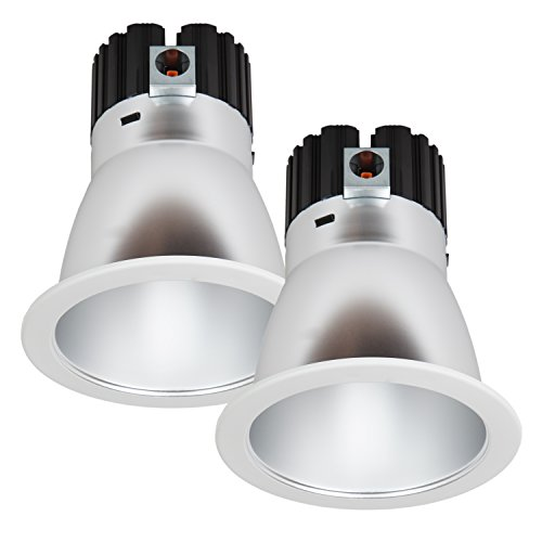 Maxxima 6 in. Commercial Recessed LED Downlight, Dimmable, 18 Watts, 1500 Lumens, 4000K Neutral White, Energy Star, Junction Box Included, Architectural Downlight (2 Pack) by Maxxima