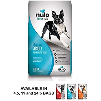 Nulo Adult Grain Free Dog Food: All Natural Dry Pet Food For Large And Small Breed Dogs (Salmon, 24Lb)