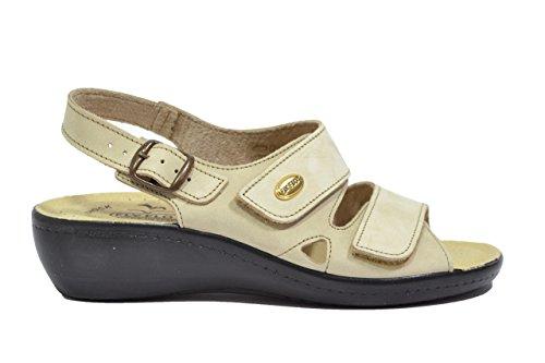 Fly Flot Sandali scarpe donna beige anatomiche anti-shock 90F2237PNE