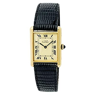 Cartier Tank Louis Cartier Mechanical-Hand-Wind Female Watch (Certified Pre-Owned) by Cartier