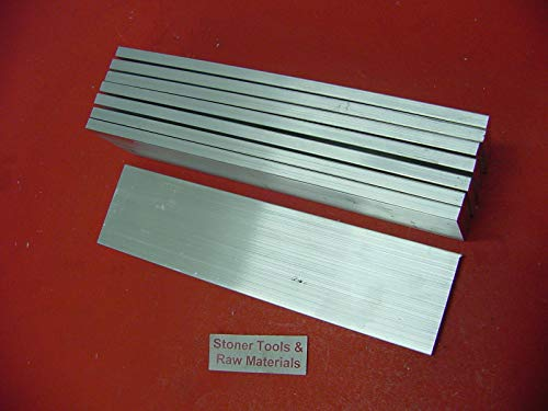 8 Pieces 1/4'' X 2'' Aluminum 6061 Flat BAR 12'' Long T6511 .25'' Plate Mill Stock