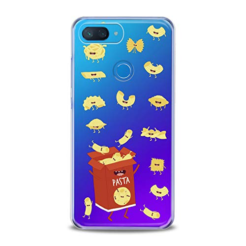 Lex Altern Xiaomi Mi A2 A1 Note 3 TPU Case 8 SE Lite Mix 2s 5X 6X 8X Clear Cute Pasts Box Red Hungry Yellow Funny Macaroni Silicone Cover Protective Flexible Girls Kawaii Design Women Transparent -