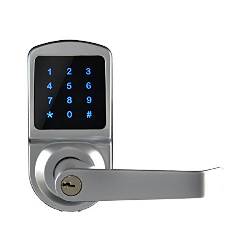 SCYAN X3 Touchscreen Keyless Keypad Door Lock, Satin Chrome, Non Handed