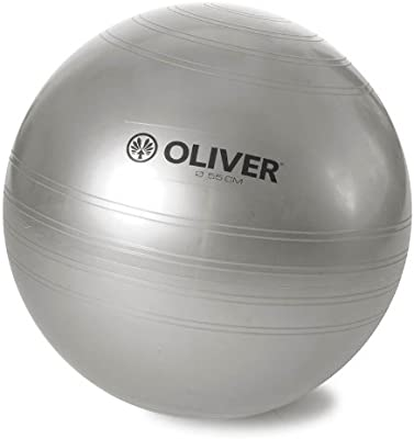 OLIVER Gymnastikball Collection - Balón de Ejercicio, Color Plata ...