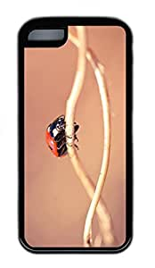 iPhone 5c Case Unique Cool iPhone 5c TPU Black Cases Ladybug On A Twig Macro Design Your Own iPhone 5c Case