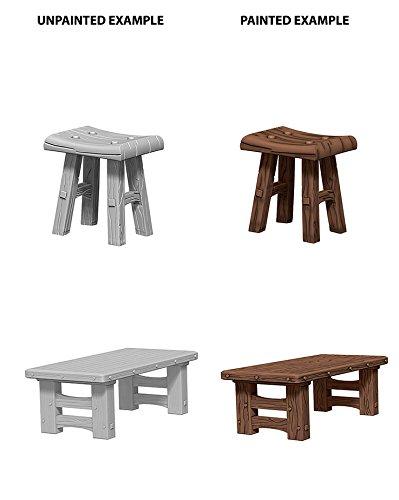 Pleasant Amazon Com Wizkids Unpainted Miniatures Wooden Table Machost Co Dining Chair Design Ideas Machostcouk