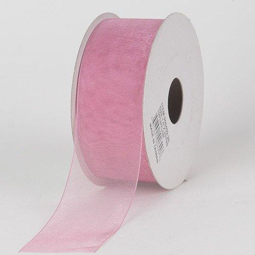 BBCrafts 7/8 inch x 25 Yards Sheer Organza Ribbon Decoration Wedding Party (Mauve)
