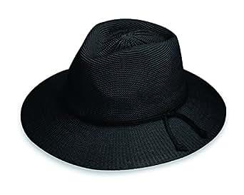 Wallaroo Hat Company Women's Victoria Fedora Sun Hat - Black - UPF 50+