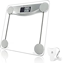 Etekcity Digital Body Weight Bathroom Scale with Step-On Technology, 440 Pounds, Body Tape Measure Included