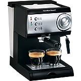 Hamilton Beach 40715 15-Bar Italian Pump Espresso Maker, Black and Stainless Color