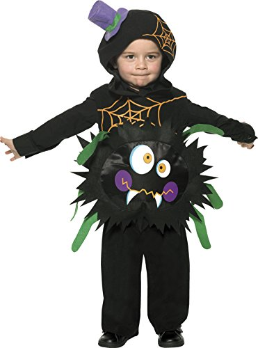 Smiffys Baby Crazy Spider Costume Tabard with (Baby Halloween Cat Costume Uk)