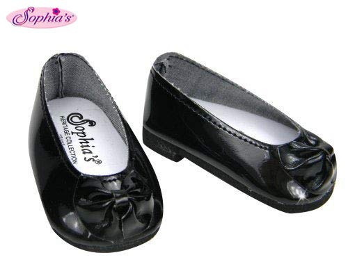 - Black Patent Doll Shoes with Bow, Dress Shoes Fits 18 Inch American Girl Dolls, Black Patent Bow Shoe Slip Ons
