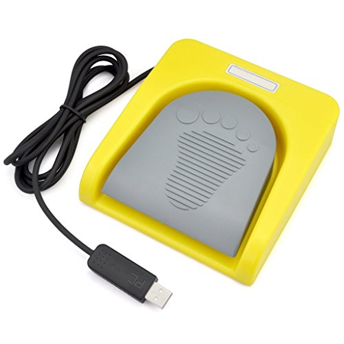 iKKEGOL USB Single Foot Switch Control One Key Customized Computer Keyboard Action Pedal HID Yellow
