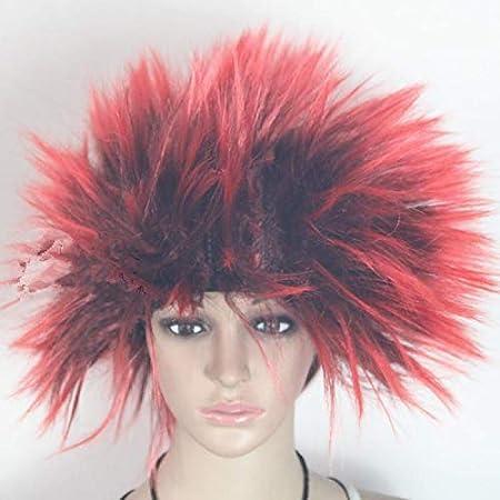 riccio parrucca festa di Halloween costume cosplay cappello bambini adulti esplosivo testa parrucca Beggar stile parrucca Marrone ROUND YUAN