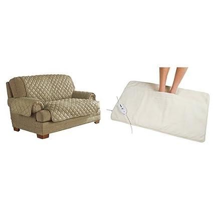 Incredible Amazon Com Serta Ultra Suede Waterproof Furniture Loveseat Short Links Chair Design For Home Short Linksinfo