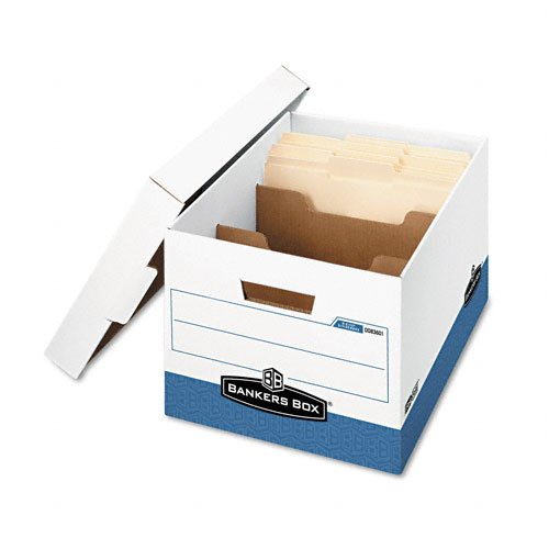 (Bankers Box : R-Kive Divider Box, Legal/Letter, 12 x 15 x 10, White/Blue, 12/Ctn -:- Sold as 2 Packs of - 12 - / - Total of 24 Each)