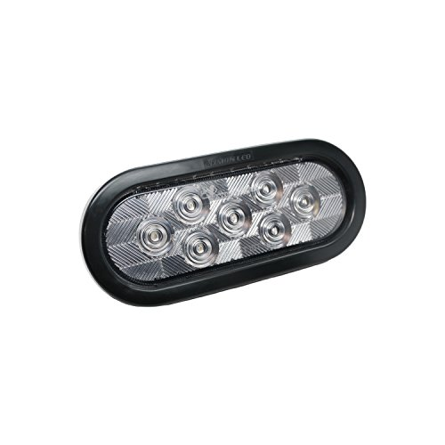 Leading Edge Lighting Pair Of 6 Quot Oval White Led With Clear