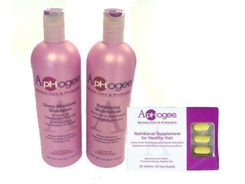 ApHogee Deep Moisture Shampoo + Balancing Moisturizer 16oz +