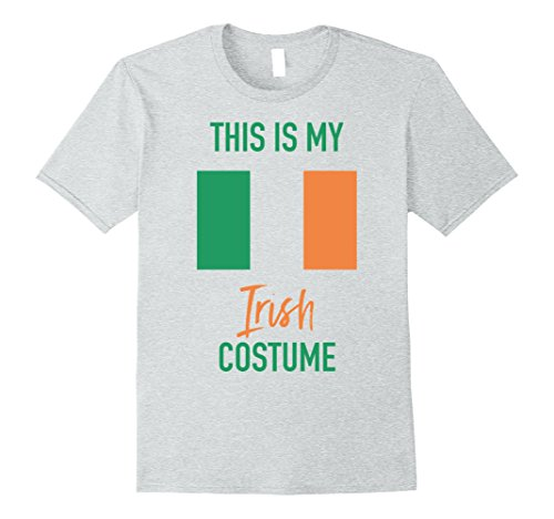 Themed Costumes Ireland (Mens This is my Irish Costume T-Shirt - Funny Halloween Tee Large Heather)